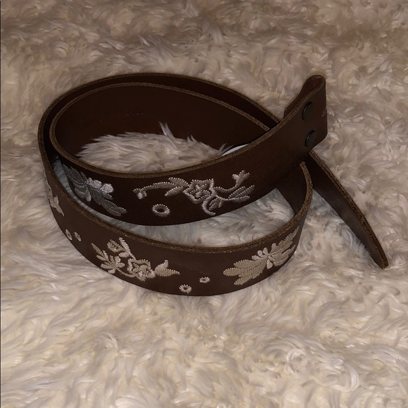 Levi's Floral Embroidered Belt w/o Buckle